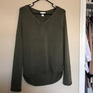 H&M olive green oversized chunky knit sweater